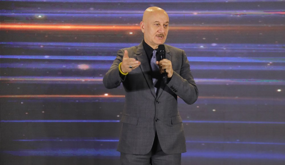 Renowned Bollywood actor and former Chairman of Film and Television Institute of India, Anupam Kher at Times 40 under 40.