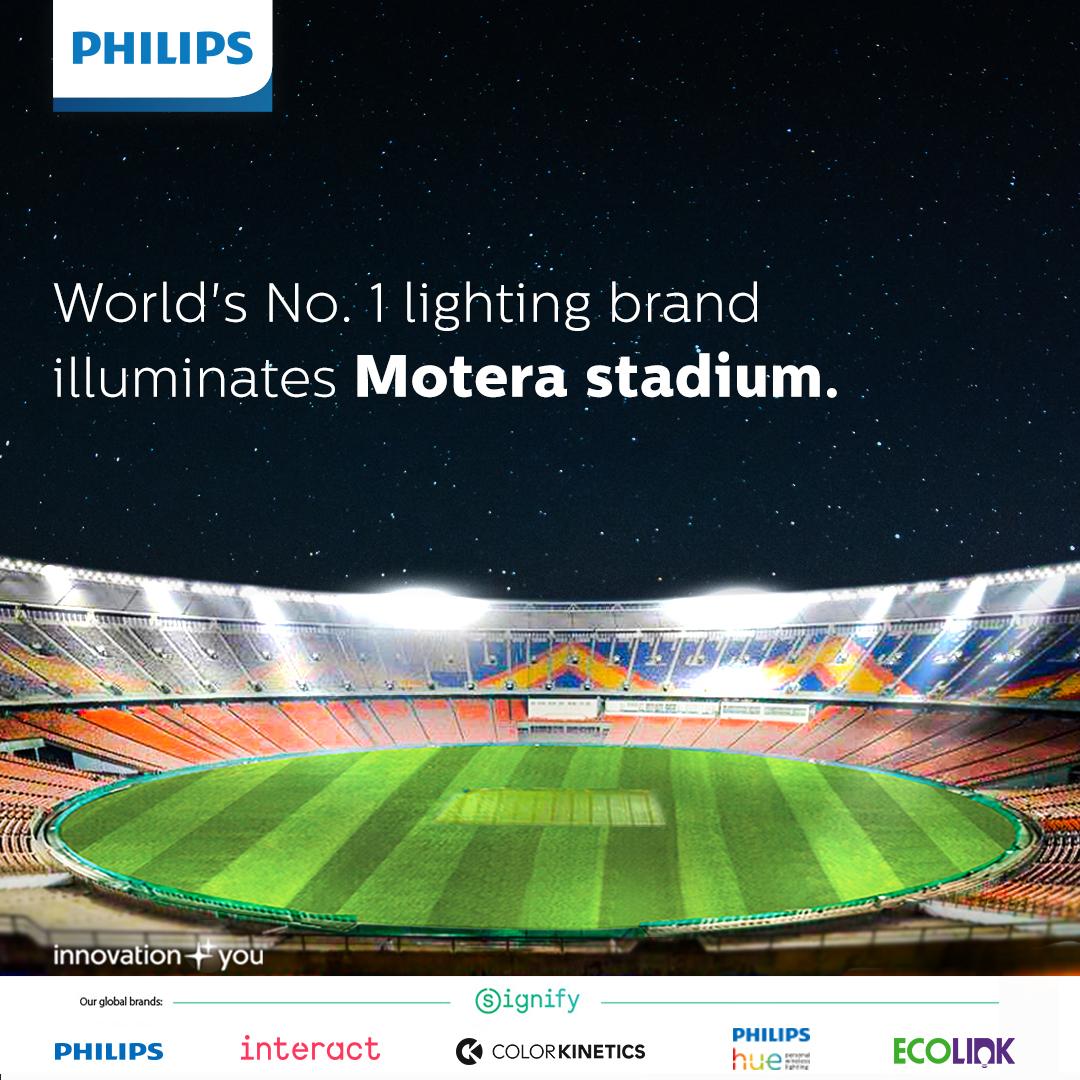 Philips illuminates Motera Stadium