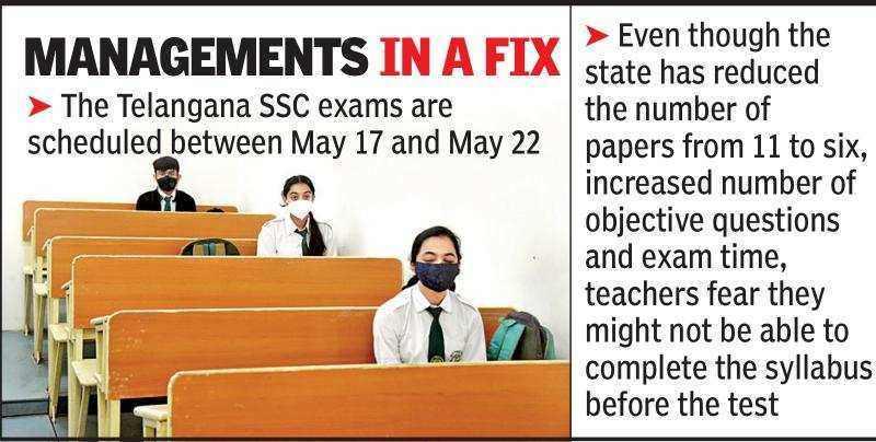 , Telangana: Schools fret over pre-boards and completion of syllabus – Times of India,