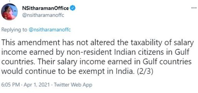 Salary earned by Indian workers in Gulf exempt from tax: Finance minister -  Times of India