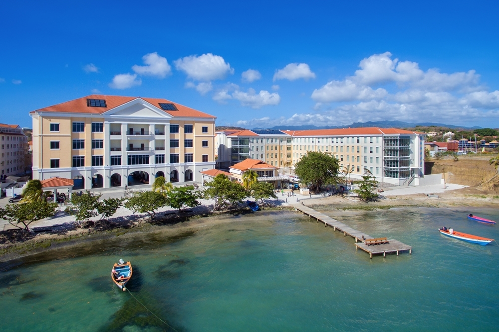 SGU Grenada campus view from the seaside