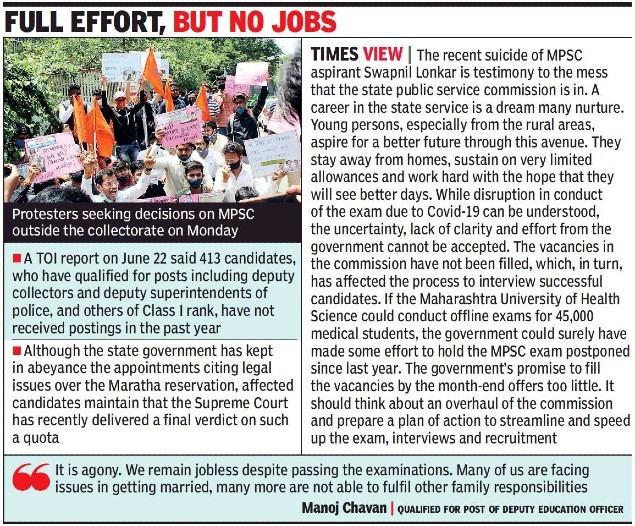 Pressure builds as MPSC aspirants wait for exam, interviews & results