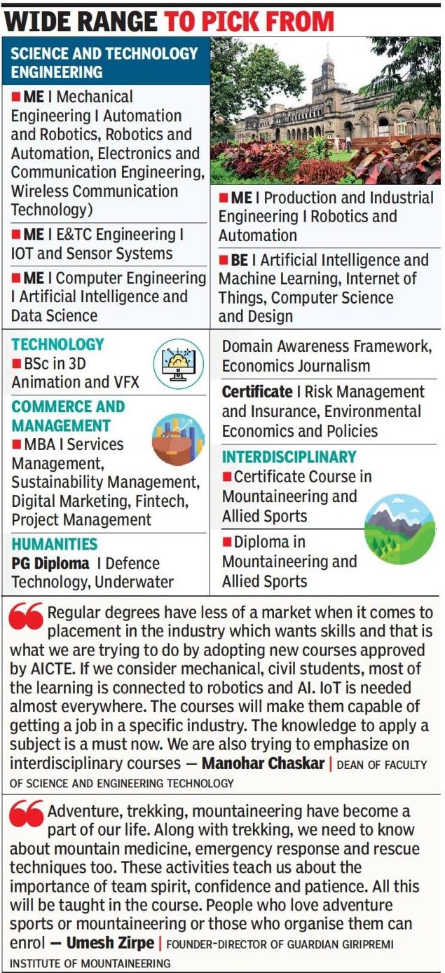 22 fresh & over 400 online courses on Savitribai Phule Pune University platform