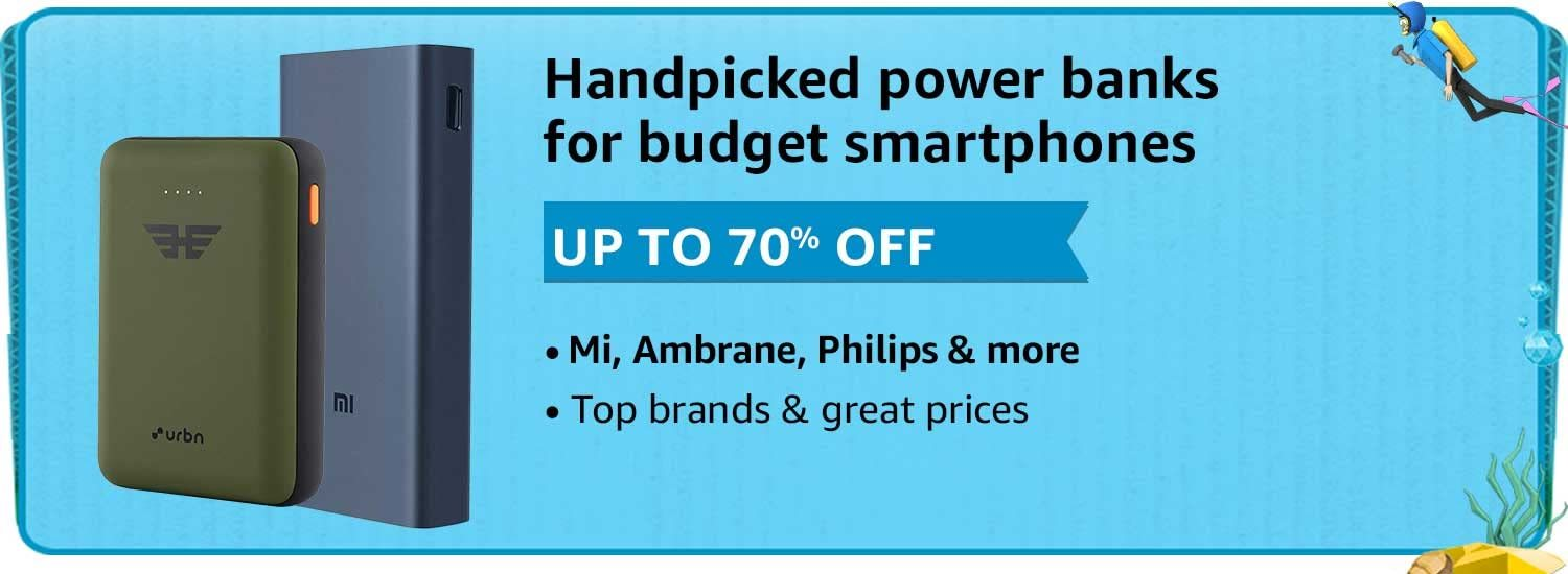 Power Banks At Up To 70% Off