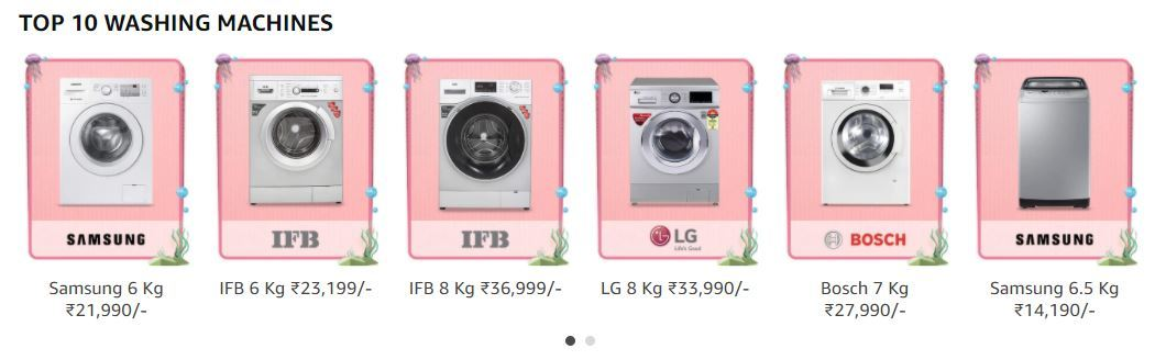 Top Offers On Washing Machines
