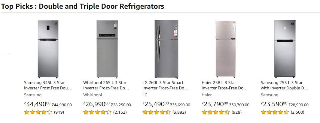 Top Deals On Refrigerators