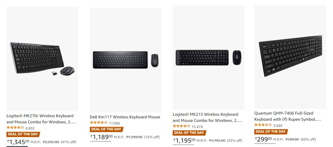 Best Deals On Keyboard and Mouse Combo
