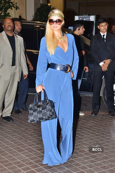 Paris Hilton arrives in Mumbai