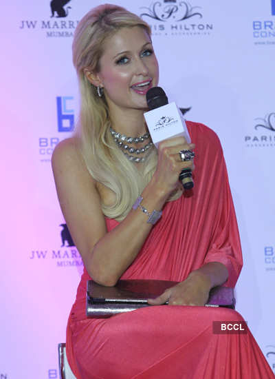 Paris Hilton unveils her line of handbags