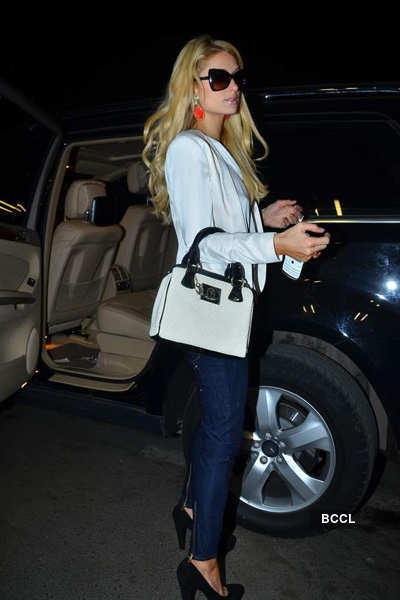 Paris Hilton leaves India