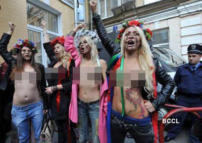 Ukrainian Femen women protest