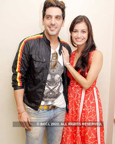Zayed Khan, Dia Mirza's photoshoot