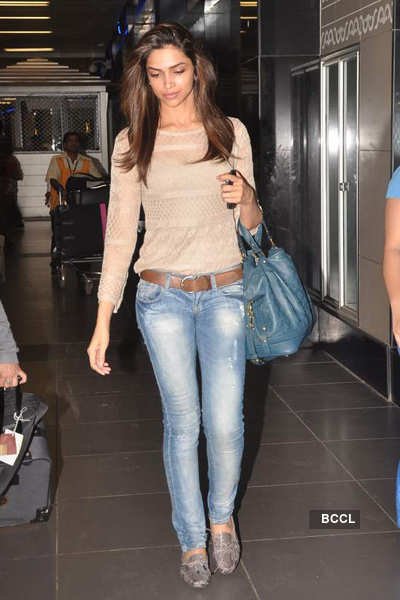 Deepika spotted @ airport