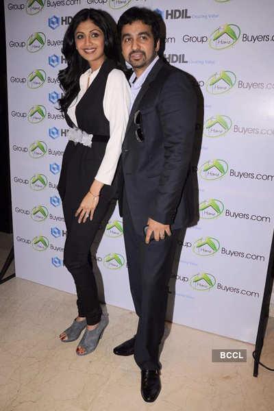 Shilpa, Raj @ website launch