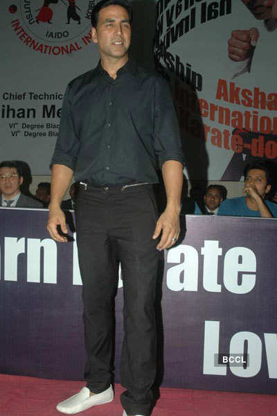 Akki, Riteish at Karate event