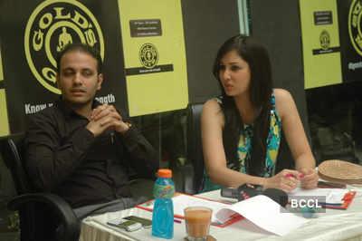 Pooja Chopra at Gold Gym's campaign