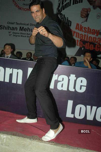 Akki at Karate event
