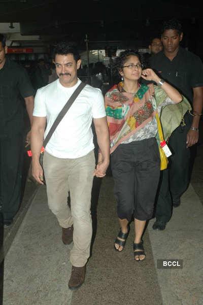 Aamir Khan, Big B at airport