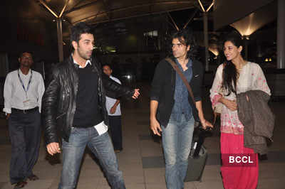 Ranbir, Nargis spotted at airport