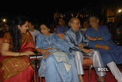 Asha at a Marathi concert