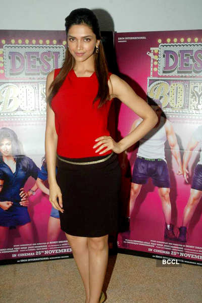 Deepika poses for 'Desi Boyz'