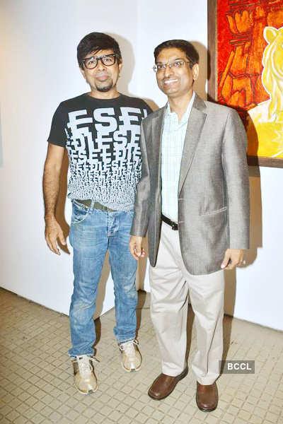 Bharat Tripathi's art exhibition