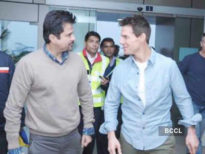 Tom Cruise lands in Delhi