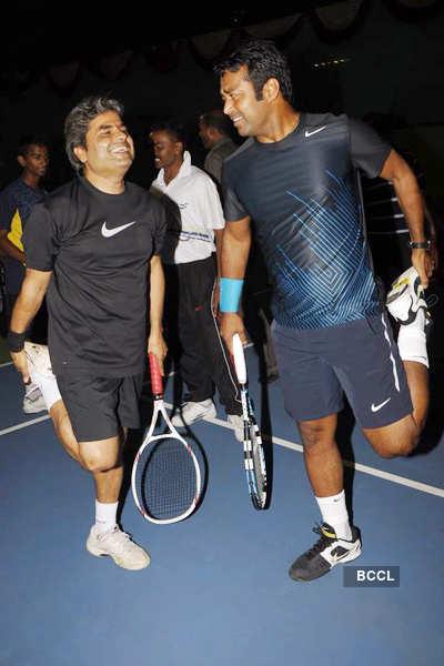 Celebs attend Tennis court launch