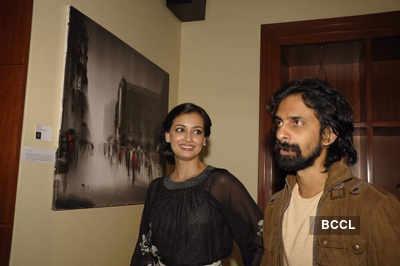 Dia Mirza at art event