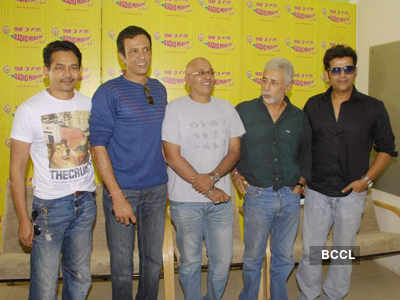 Cast of 'Chaalis Chaurasia' @ Radio Mirchi
