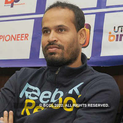 Irfan, Yusuf Pathan @ press meet