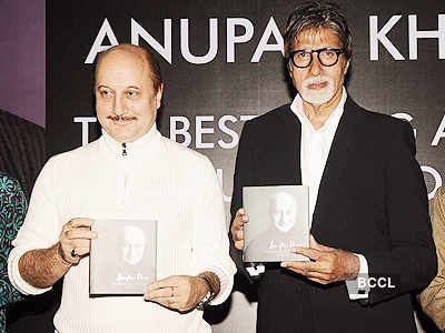 Big B at Anupam Kher's book launch