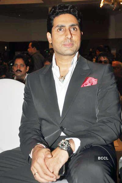 Abhi @ '57th Filmfare Awards' meet