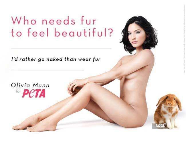 Celebs pose for PETA