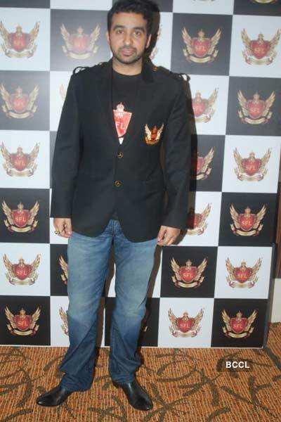 Sanju, Raj at 'Super Fight League' launch