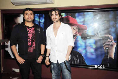 Himesh, Neil @ song recording