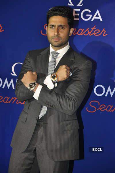 Abhi @ Omega watch launch