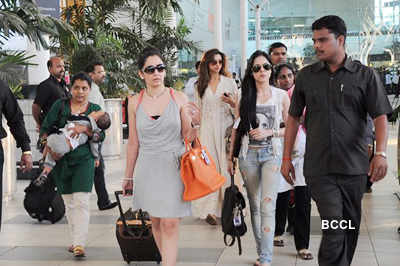 Celebs return from Rohit Dhawan's wedding