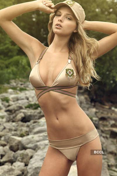 Glam gals in hot bikinis