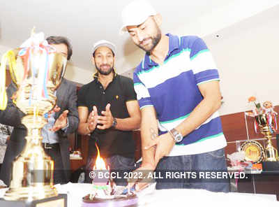 Hockey player Sandeep Singh's b'day party