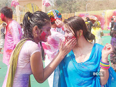 TV stars @ Holi party