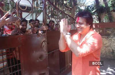 Govinda celebrates Holi