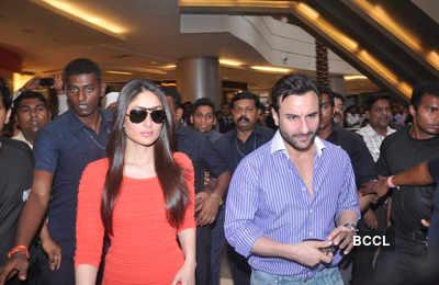 Saif, Kareena promote 'Agent Vinod'