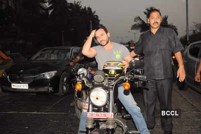 Saif rides bike for 'Agent Vinod'