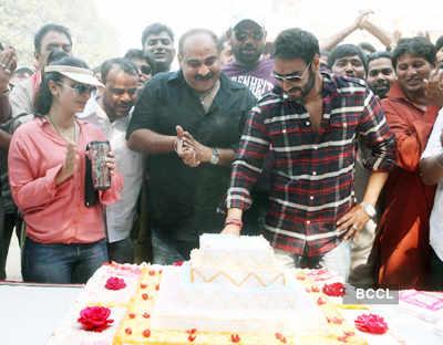 Ajay celebrates b'day on 'SOS' set