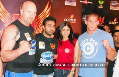 Raj, Shamita @ 'SFL' meet
