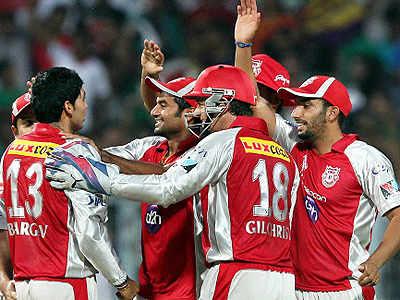 Kings XI Punjab pip KKR in a thriller