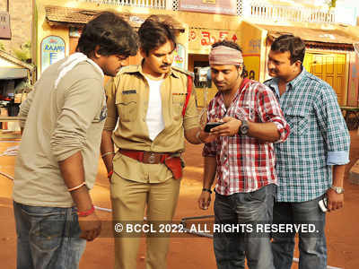 On the Sets: 'Gabbar Singh'