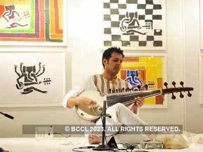 Ayaan Ali's art exhibition