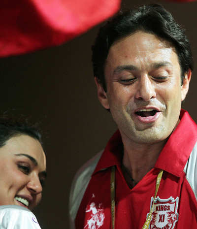 Preity, Ness Wadia at IPL